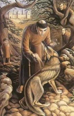 Franciscus van Assisi en de wolf