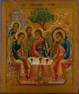 Ikoon van de heilige Drie-eenheid van Andrej Roebljov